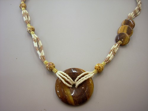 Asymmetrical Donut Bead Necklace
