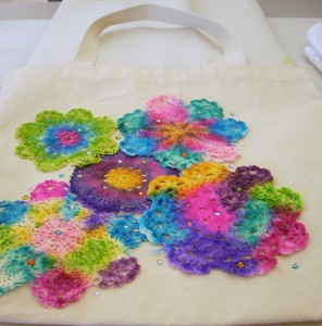 Sharpie And Doily Tie Dye Tote Bag
