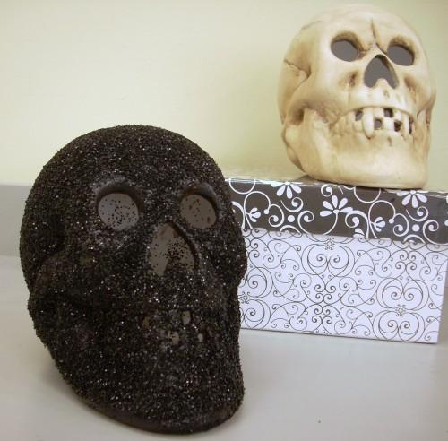 Halloween Crafts - Glittered Skull