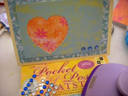 Valentine's Day Card Making - An Open Heart Layered Card