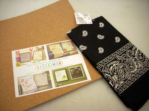 Bandana Memo Board with Button Push Pins