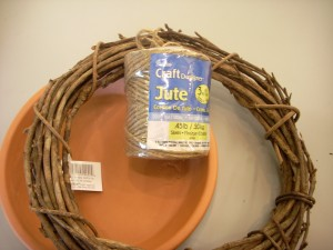 Clay Pot Saucer Grapevine Wreath Bird Feeder