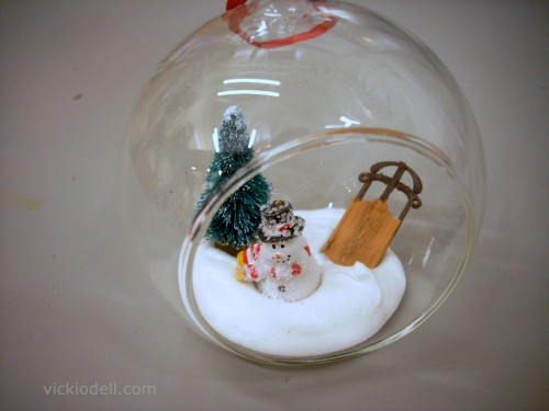 Clear glass panoramic christmas ornaments