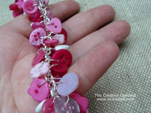Valentine's Day Button Bracelet