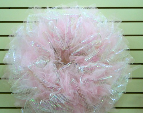 Punchinello and Tulle Wreath
