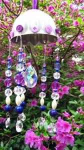 Thrifting Thursday - Vintage Jell-o Mold Suncatcher with Swarovski Crystal
