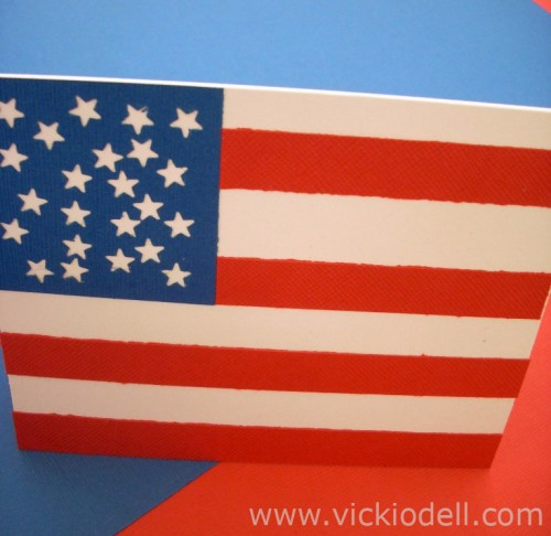 Make an Easy Patriotic Card or Invitation