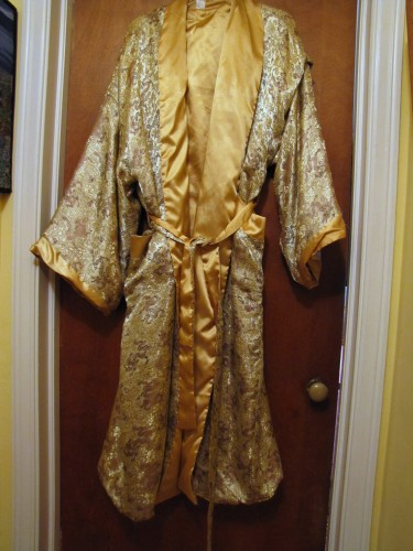 Thrifting Thursday: Silk Bathrobe