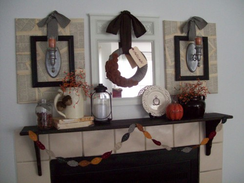 Fabulous Friday – Inspiration For Fall Mantle Decorating