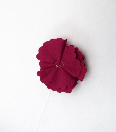 Wool Flower Brooch