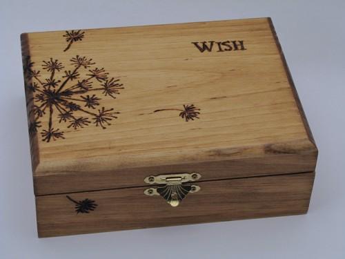 Make A Wood Burned Keepsake Box For Mothers Day