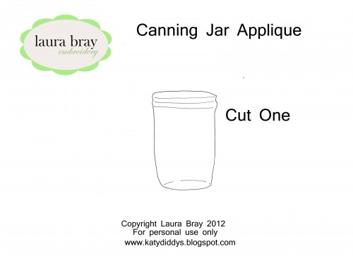 pattern for canning jar applique