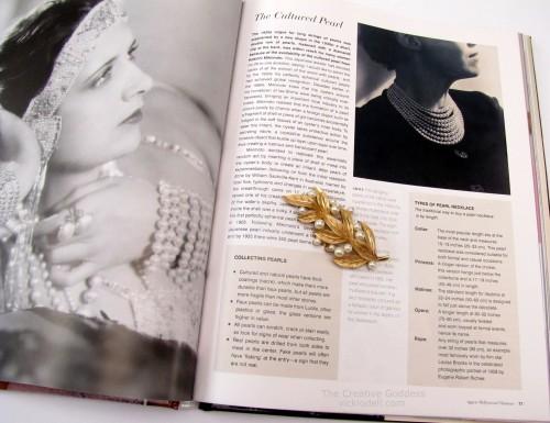 Vintage Jewelry Design by Caroline Cox, cultured pearl brooch