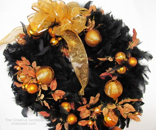 An Easy To Make Halloween Wreath With Orange Christmas