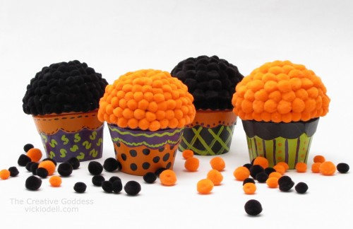Halloween Cupcake Favor Boxes