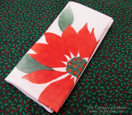 Create Your Own Christmas Napkins: Transfer Printing with Ink Effects