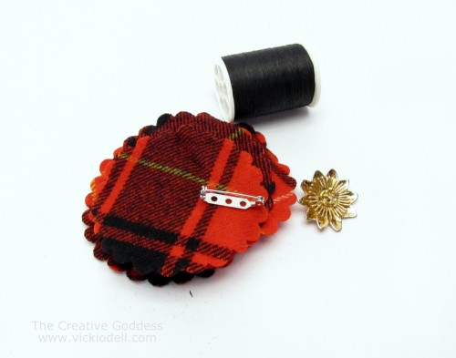 Make a New Brooch with Vintage Brooches and Recycled Wool