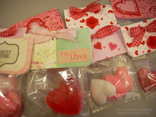 Valentine's Day, soap making, party favors