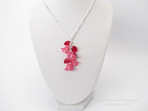 Make a Hearts and Flowers Necklace for Valentine's Day