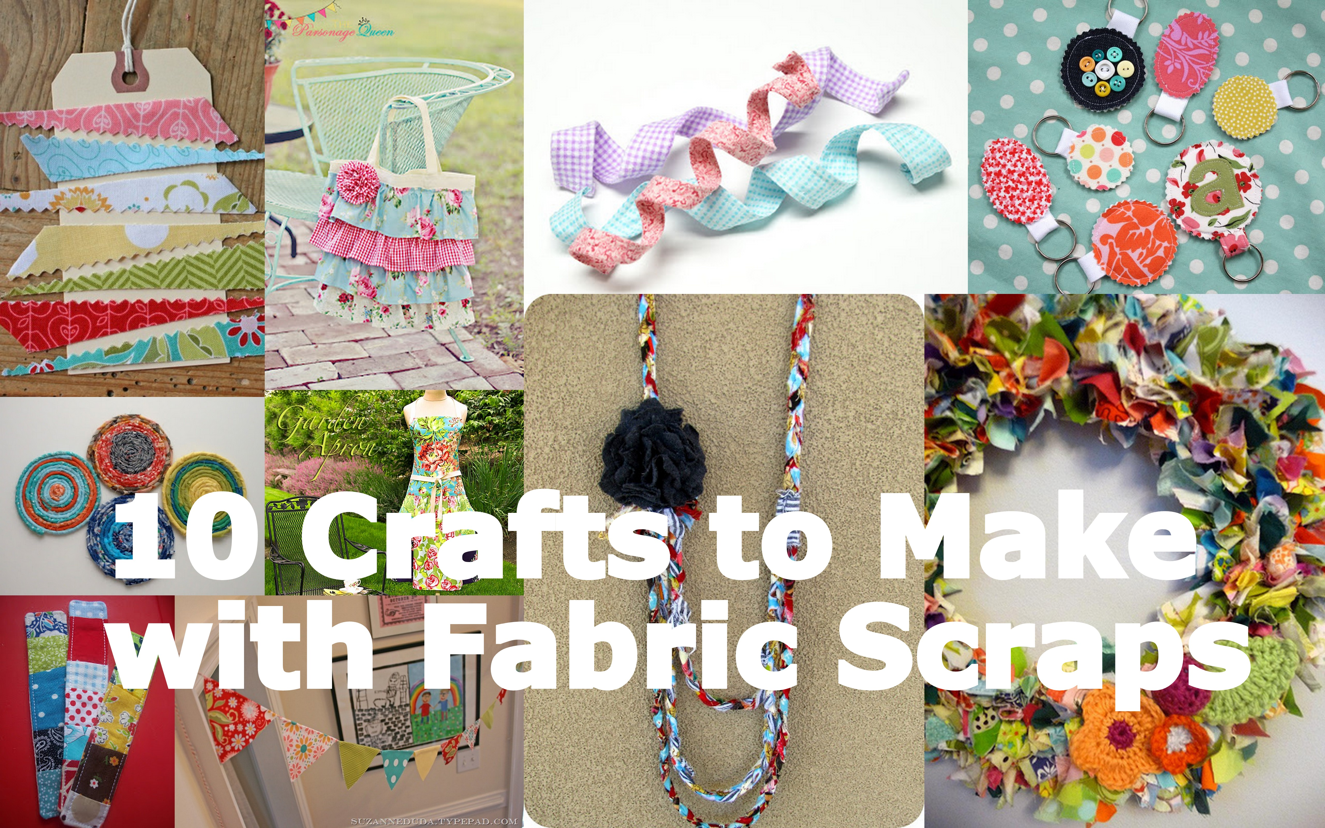 Fabulous friday 10 crafts to make with fabric scraps for Fabric crafts to make