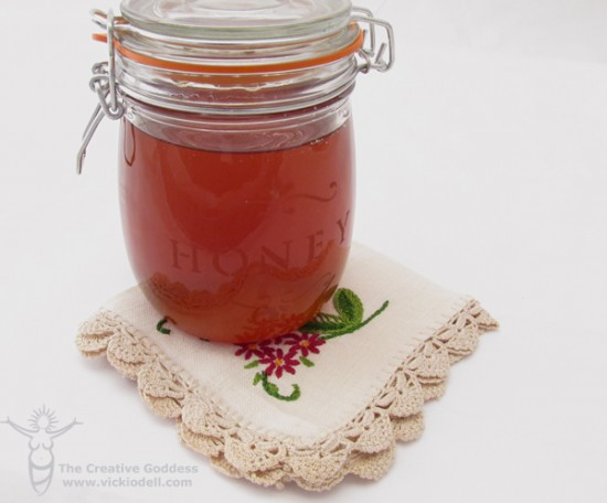 Mother's Day Tea with a Glass Etched Honey Jar