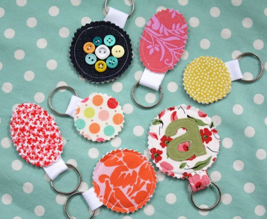 fabric-scrap-keychains