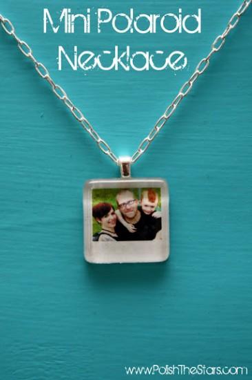 polaroid photo necklace pendant