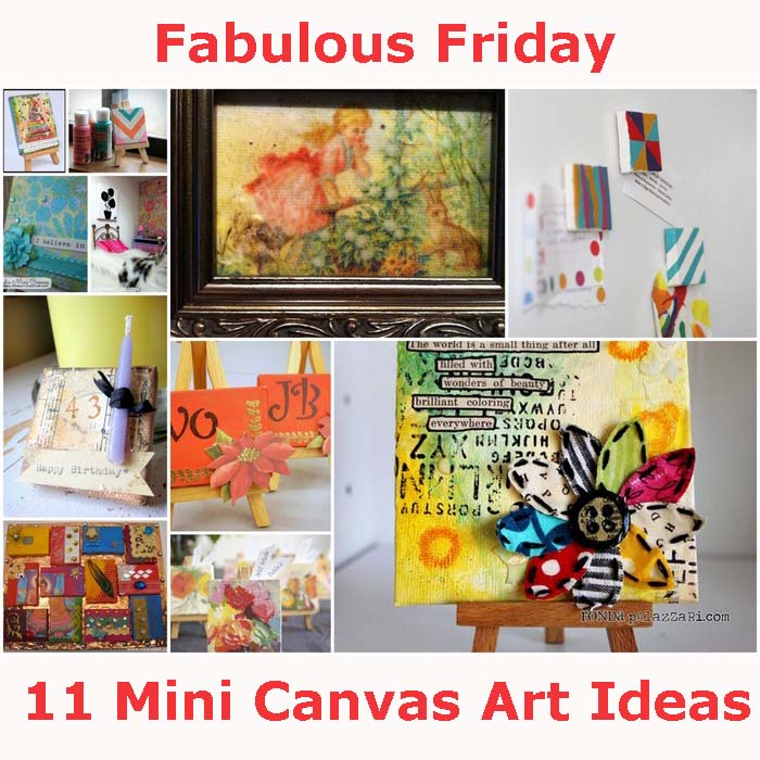 Fabulous Friday 11 Mini Canvas Art Ideas Vicki O Dell