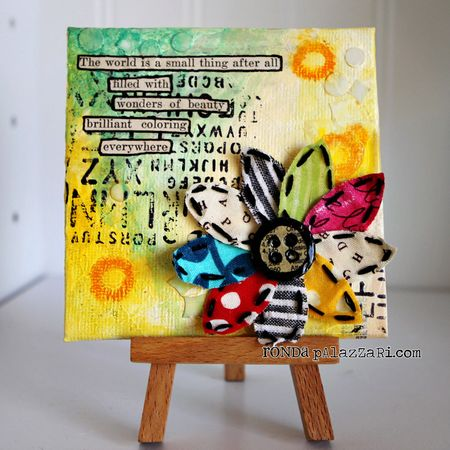 fabulous friday 11 mini canvas art ideas vicki o 39 dell