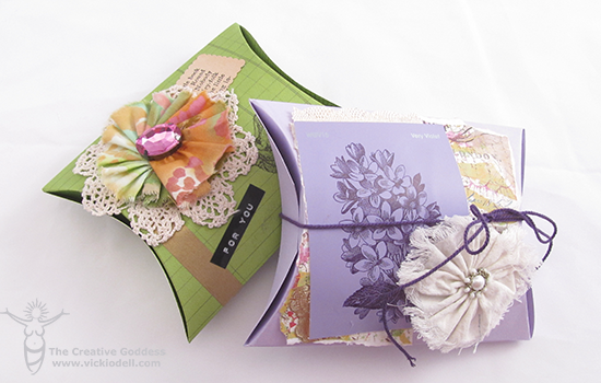 Mixed Media Gift Boxes to Make